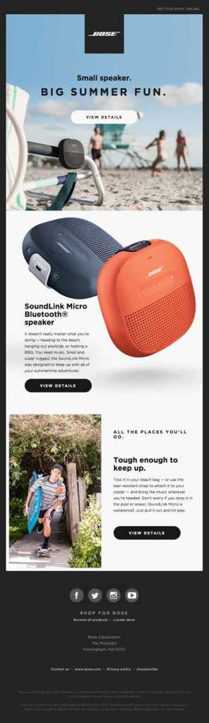 summertime vibes with soundlink micro - How To Target Subscribers On A Vacation?